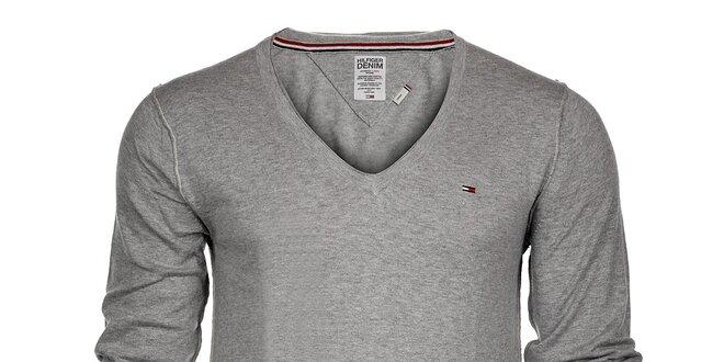 Pánský světle šedý svetr Tommy Hilfiger 40787647cc
