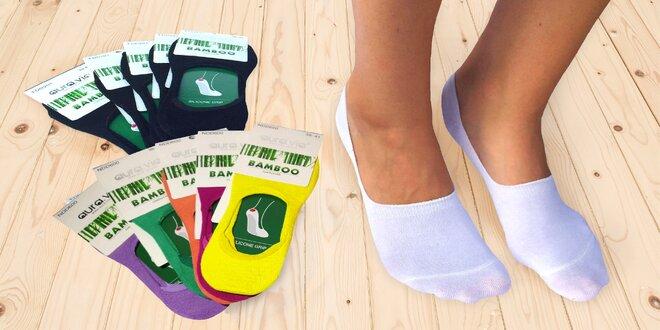 5 párů bavlněných či bambusových ponožek
