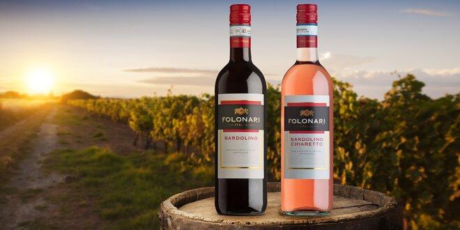 6 lahví italského vína: červené, růžové nebo mix