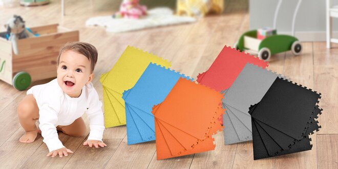 Dětské jednobarevné pěnové puzzle na zem
