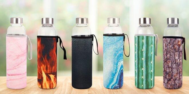 Skleněná láhev s neoprenovým obalem v 7 designech