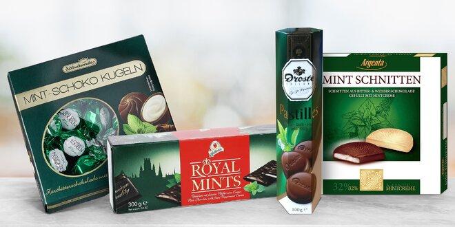 Čokoládové delikatesy s příchutí máty
