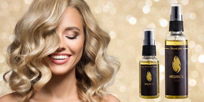 100% arganový olej pro krásné vlasy, nehty i pleť