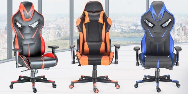 Otočné kancelářské židle s ergonomickým tvarem