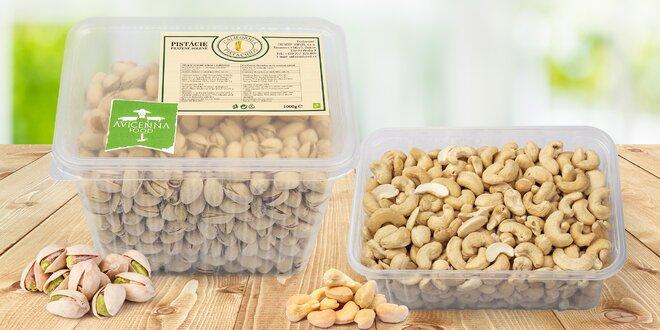 Kalifornské pistácie a kešu ořechy v extra kvalitě