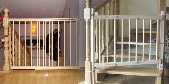 Bezpečnostní dřevěná zábrana mezi dveře nebo na schody