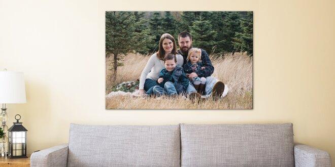 Fotoobraz s vlastní fotografií, vel. až 130 × 87 cm