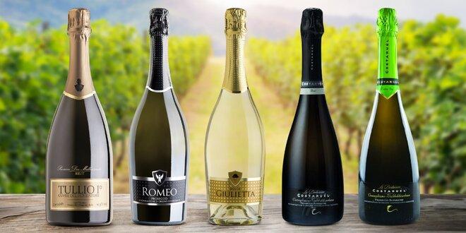 Italská šumivá vína všech barev po 2 až 3 lahvích