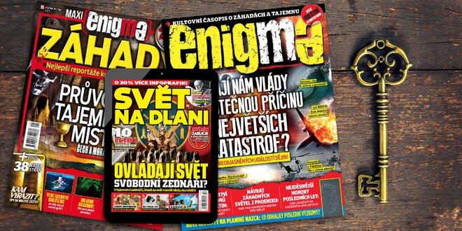 Roční předplatné Enigma a el. verze Svět na dlani