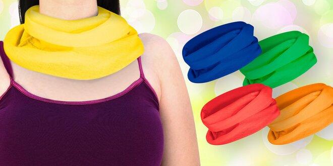 Multifunkční šátek z úpletu s rovným střihem