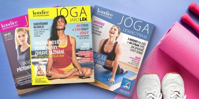 Balíček 3 jógových speciálů časopisu Kondice vč. DVD