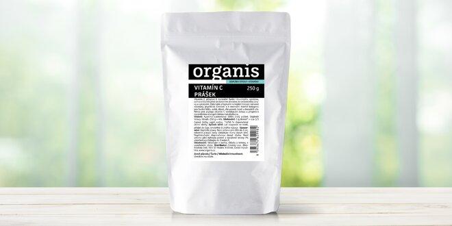 100% vitamin C v prášku: 1–3 balení po 250 g