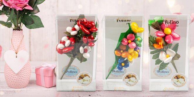 Pro radost: krásné květiny z čokolády a mandlí