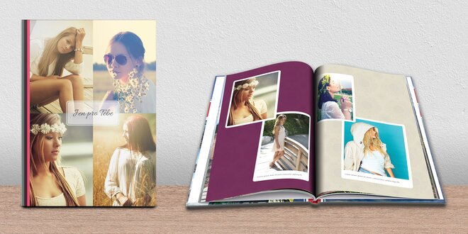 Fotokniha A4 s lepenou vazbou: na výšku, až 96 str.