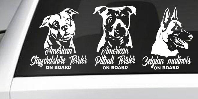 Nálepky podobizen oblíbených psích plemen na sklo
