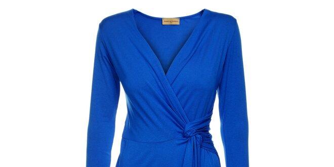 Dámské zářivě modré zavinovací šaty Comptoir des Parisiennes ... 6f7504e9eb0