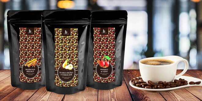 Balíčky tří nebo šesti oblíbených ochucených káv
