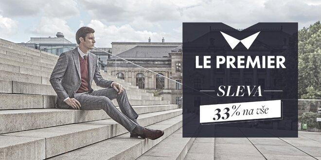 Sleva 33 % na pánskou módu na e-shopu Le Premier