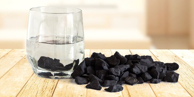 200 nebo 500 g šungitové drti na filtraci vody