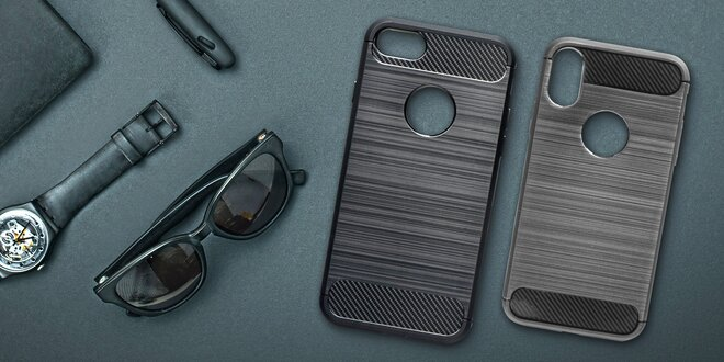 Pouzdro Carbon s tvrzeným sklem pro 59 telefonů