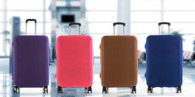 Jednobarevné elastické potahy na kufr s dárkem