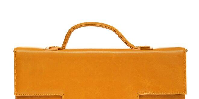 922afca1953 Dámská žlutá aktovka Tavecchi