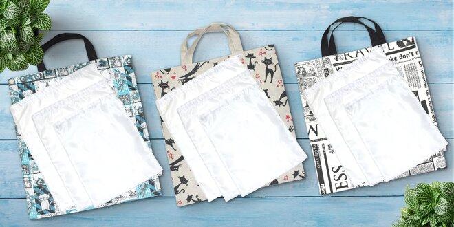 Šetřete přírodu: nákupní látková taška a pytlíky