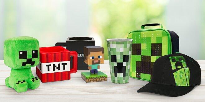Minecraft přívěsky, trička, batohy i hrnky