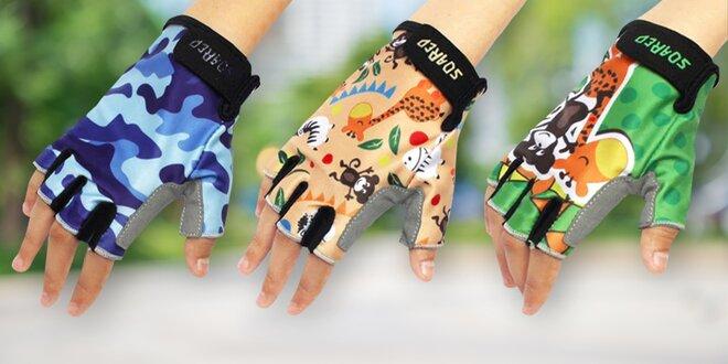 Dětské cyklistické rukavice: 5 veselých vzorů