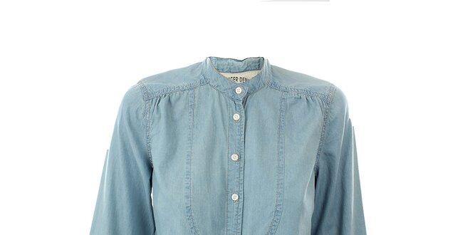 Dámská světle modrá džínová košile Tommy Hilfiger  b1f86ad684
