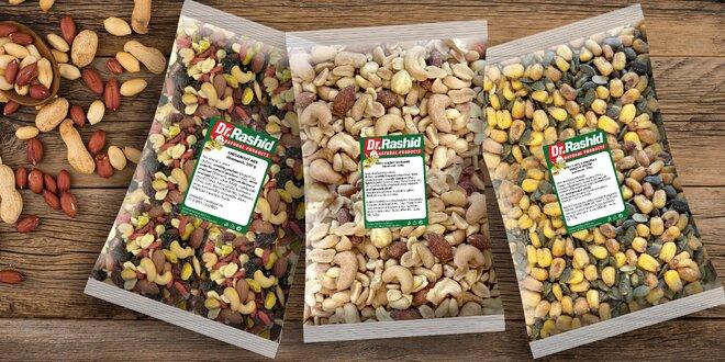 Směsi ořechů, semínek a ovoce: natural i solené