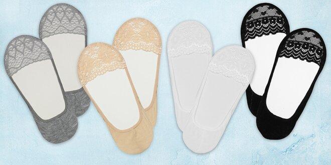 11 párů krajkových nízkých ponožek do balerínek