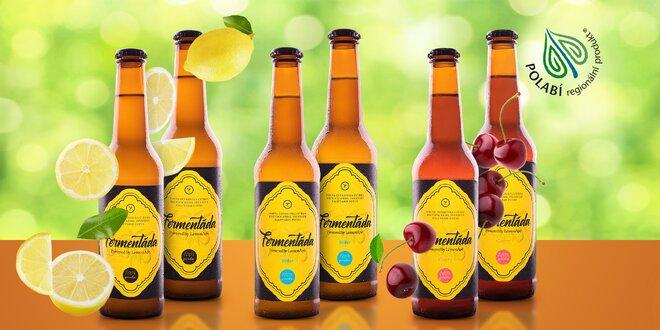 Balení čtyř 100% přírodních fermentád ve 4 příchutích