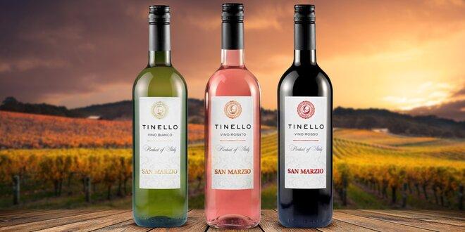 Italská vína Tinello: bílé, červené i růžové