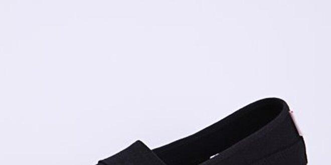 Dámské černé plátěné nazouvací tenisky Lacoste