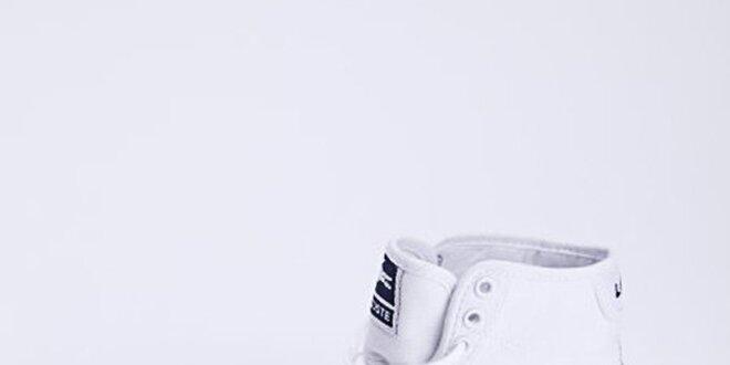 Dámské plátěné kotníčkové tenisky bílé Lacoste