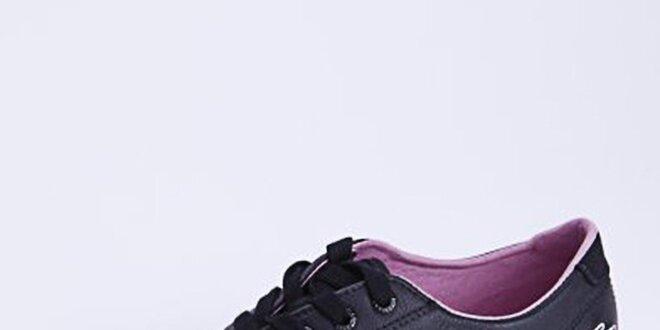 Dámské kožené tenisky s fialkovým vnitřkem Lacoste