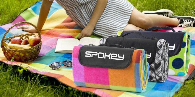 Fleecové piknikové deky s fólií a popruhem