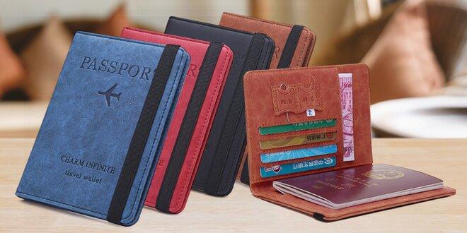Praktické pouzdro na pas, doklady i karty: 8 barev
