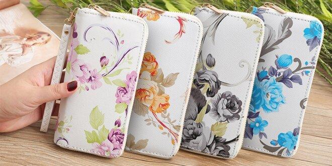 Dámská peněženka s jemným květinovým vzorem