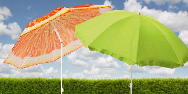Zahradní slunečníky s kvalitním potahem: 15 variant