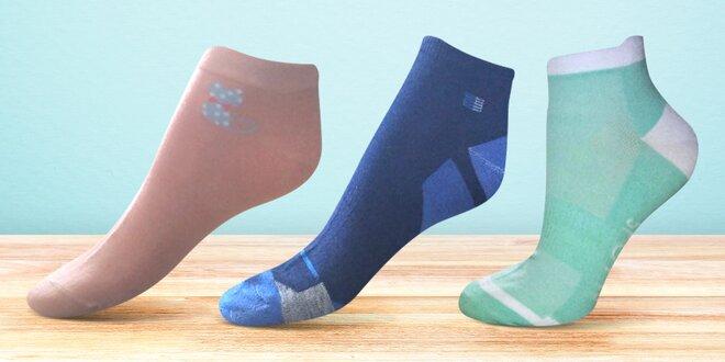 6 párů dámských a pánských kotníkových ponožek