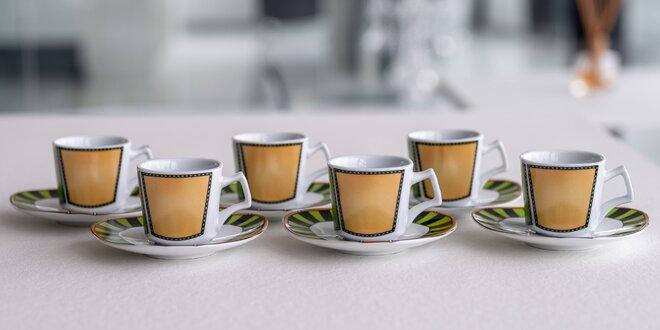 Kávový či čajový set: 4 nebo 6 hrníčků a podšálků
