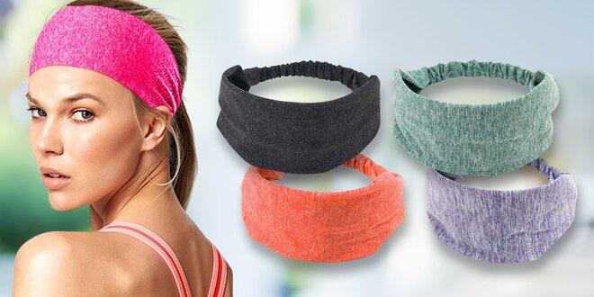 Elastické sportovní čelenky v mnoha barvách