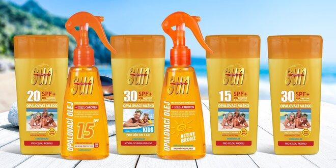 Opalovací mléka a oleje Sun Vital s beta-karotenem