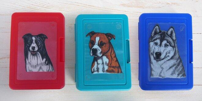 Plastové svačinové boxy s potiskem domácích mazlíčků