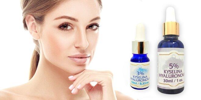 Sérum 3 a 5% kyseliny hyaluronové pro krásnou pleť