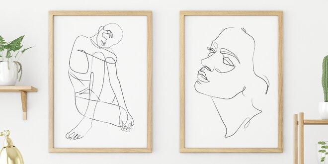 Vyzdobte si byt: minimalistické plakáty, 4 velikosti