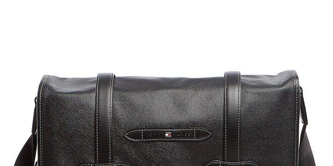Černá kožená taška přes rameno Tommy Hilfiger  5d2e9175af4