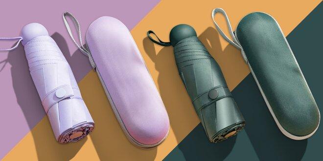 Lehké perleťové minideštníky v praktickém pouzdru